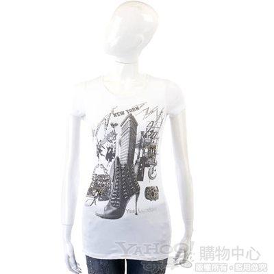 YES LONDON 白色紐約印象短袖T恤
