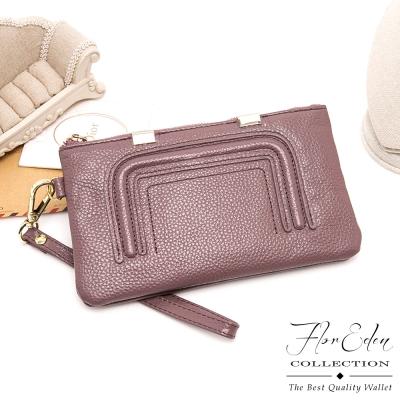 DF-Flor-Eden皮夾-時尚極簡風牛皮款單拉鍊長夾-共2色