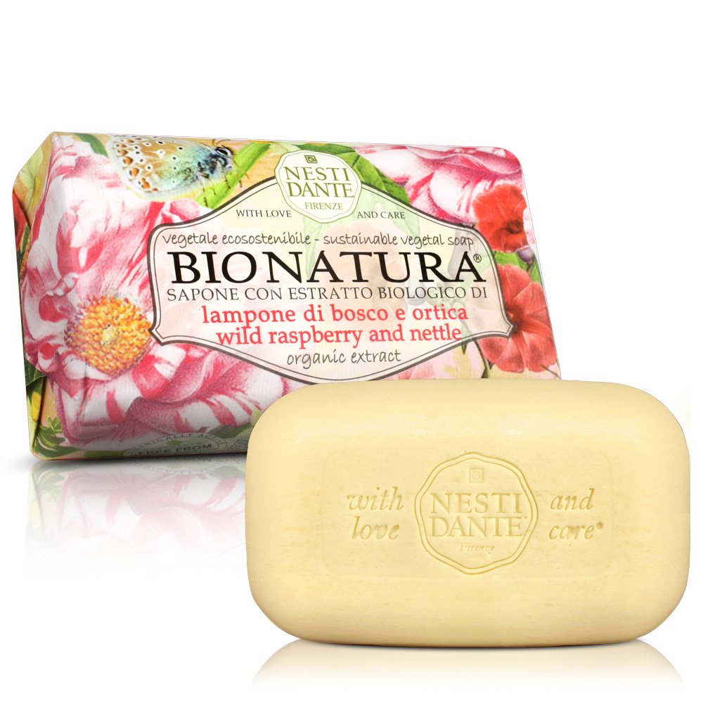 Nesti Dante 天然純植系列-純植野莓蕁麻葉皂(250g)X2入