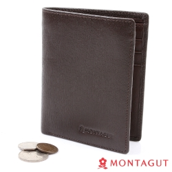 MONTAGUT夢特嬌-頭層牛皮真皮短夾(6卡1照2夾1零)