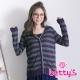 betty's貝蒂思 造型條紋針織罩衫(綠色) product thumbnail 1