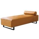 沙發 貴妃椅 雪菲絲 咖啡色皮革貴妃椅 品家居