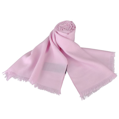 GUCCI 經典GG緹花LOGO羊毛圍巾(粉紅)
