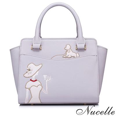 NUCELLE 莫蒂爾悠閒時光手提包 優雅紫