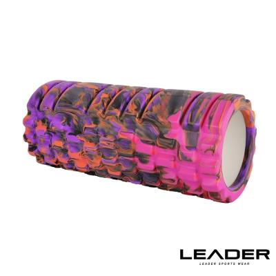 Leader X專業塑身美體瑜珈棒滾筒按摩輪紫迷彩急速配