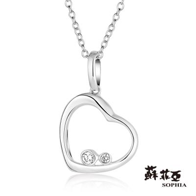 蘇菲亞SOPHIA 鑽石項鍊-兩心相依鑽鍊