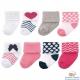 Luvable Friends 桃紅深藍愛心嬰兒襪8雙入組 product thumbnail 1