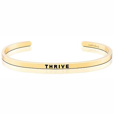 MANTRABAND THRIVE滋養成長茁壯發揮無限潛能金色手環