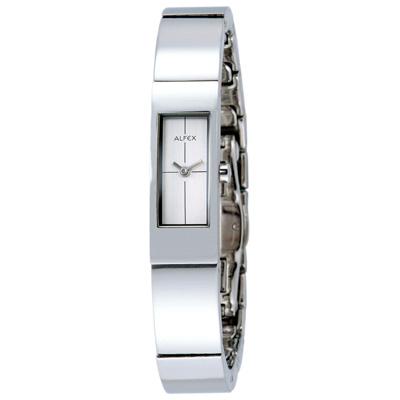 【ALFEX】極簡時尚手環錶(銀白)