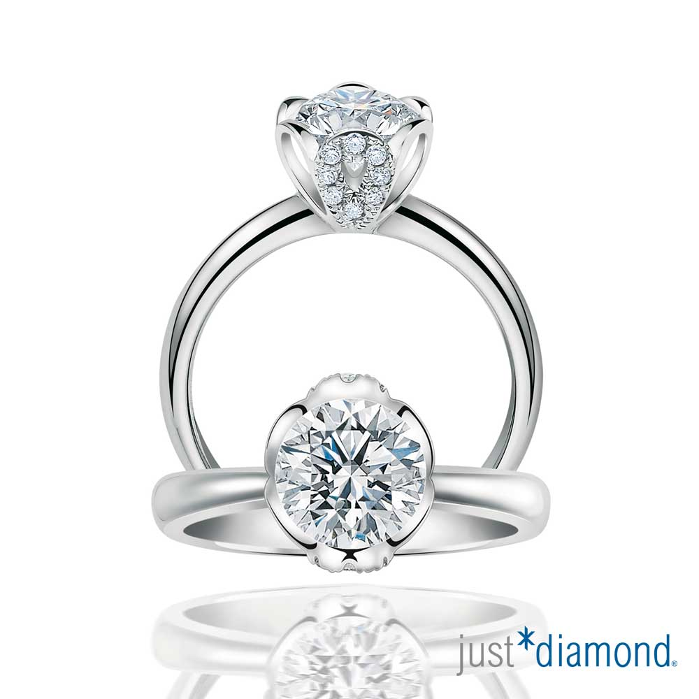 Just Diamond 戀花語系列 GIA 主鑽重量0.31克拉 鑽石戒指