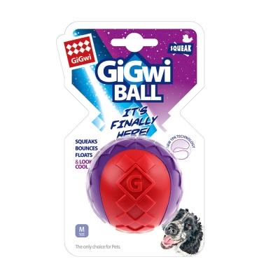 GiGwi球就是經典- 玩具中啾球單顆(紅紫色)