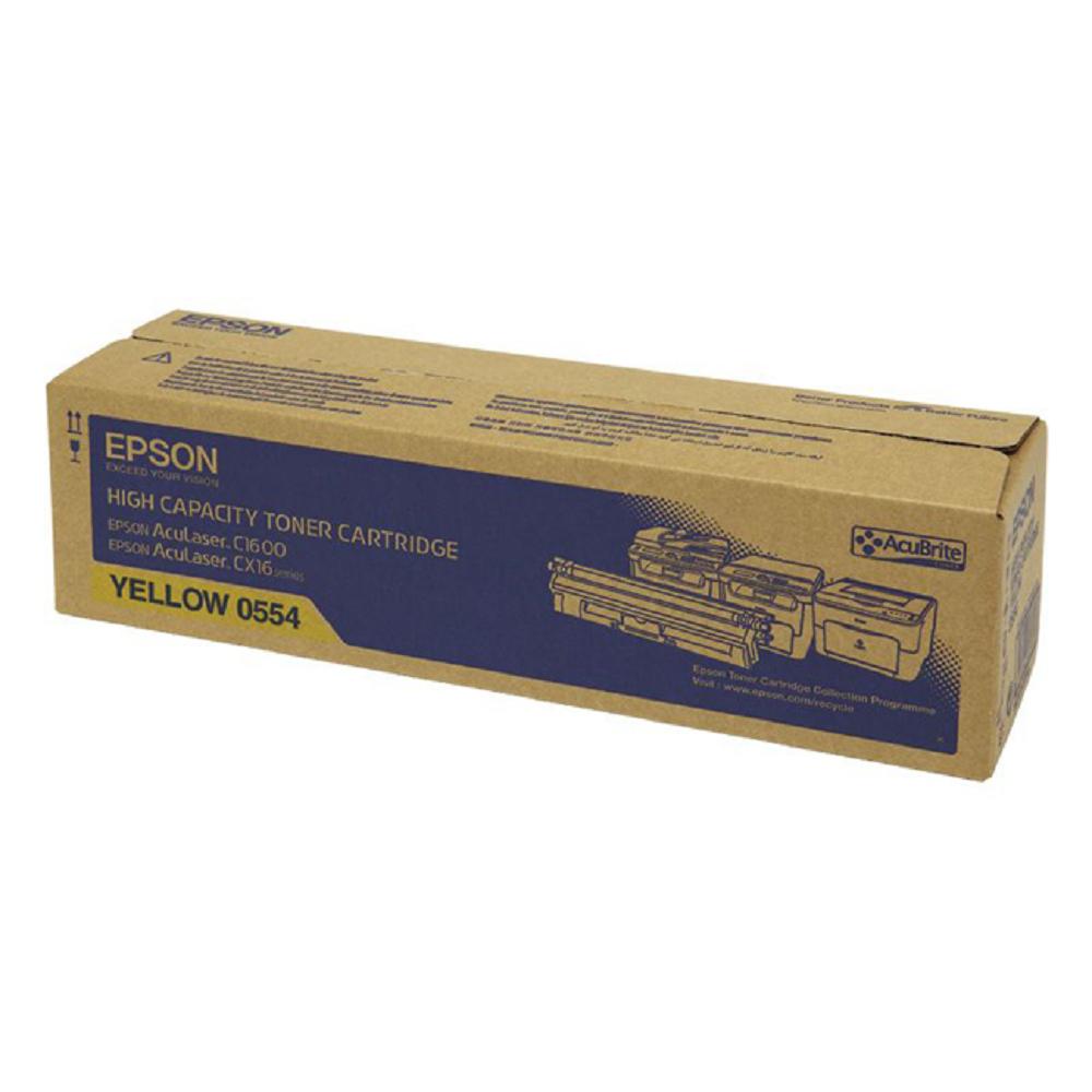 EPSON C13S050554黃色碳粉匣(2700張)