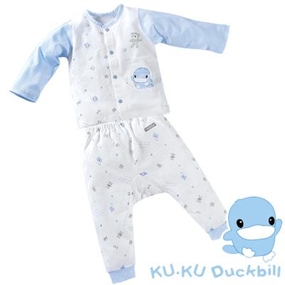 【KU.KU酷咕鴨】夏樂印花長被套裝/春夏薄款-藍