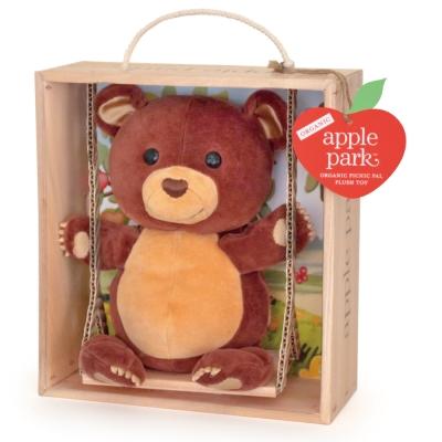 美國 Apple Park 盪鞦韆玩偶彌月禮盒 - 小熊