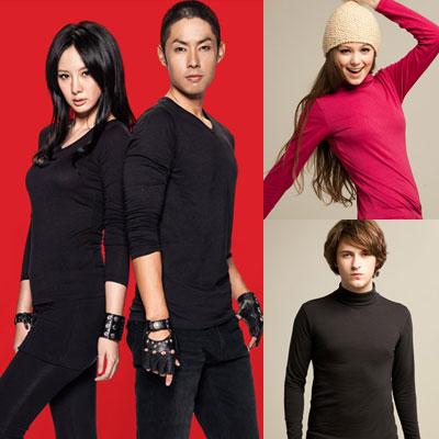 HANG-TEN-任2件-爆暖-男女機能保溫衣-素綿T