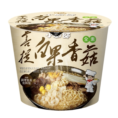 小廚師 菩提白果香菇慢食麵-素(206gx6桶)