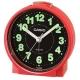 CASIO 鬧鐘桌上圓型指針款鬧鐘(TQ-228-4D)紅x白面 product thumbnail 1