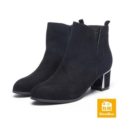 達芙妮DAPHNE-ShoeBox系列-短靴-水鑽