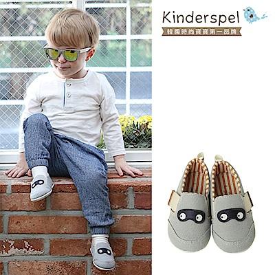 Kinderspel 輕柔細緻.郊遊趣休閒學步鞋(寶寶特攻隊-粉藍)