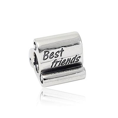 Pandora 潘朵拉 Best Friends刻字造型 純銀墜飾 串珠