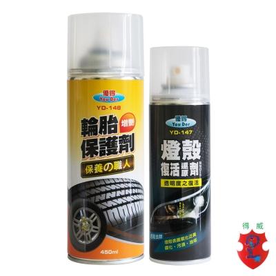 車用保護劑組合-MIT輪胎保護劑+MIT燈殼還原劑-DW得威