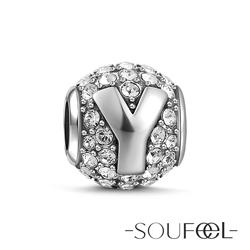 SOUFEEL索菲爾 925純銀珠飾 字母 Y 串珠