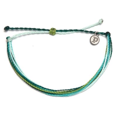 Pura Vida Anklets多圈 素面 臘繩 手鍊腳鍊兩用 綠色珊瑚海