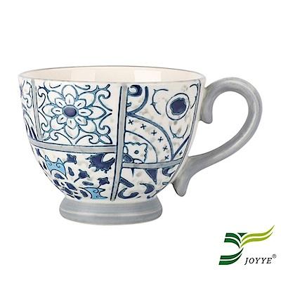 JOYYE陶瓷餐具 花如玉手繪C把杯-H