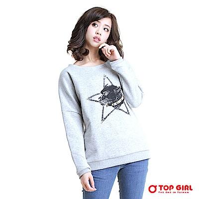 【TOPGIRL】棉長袖寬版圓領T-共兩色
