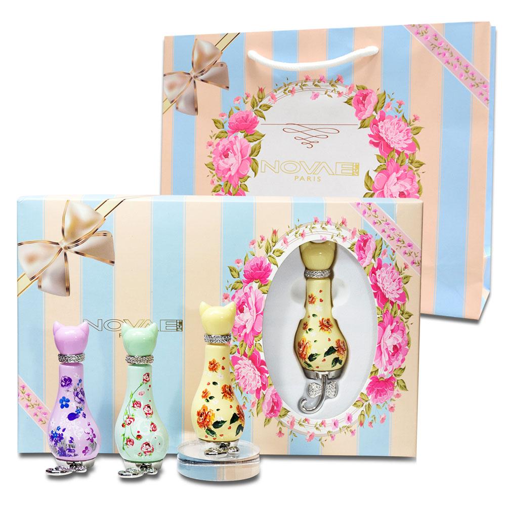 Novae Plus 甜密花園-春日款限量小香禮盒組 12ml×3+同品牌紙袋
