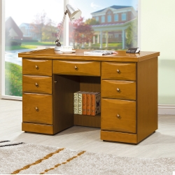 Bernice-堤雅4.2尺實木辦公桌/書桌-127x64x82cm