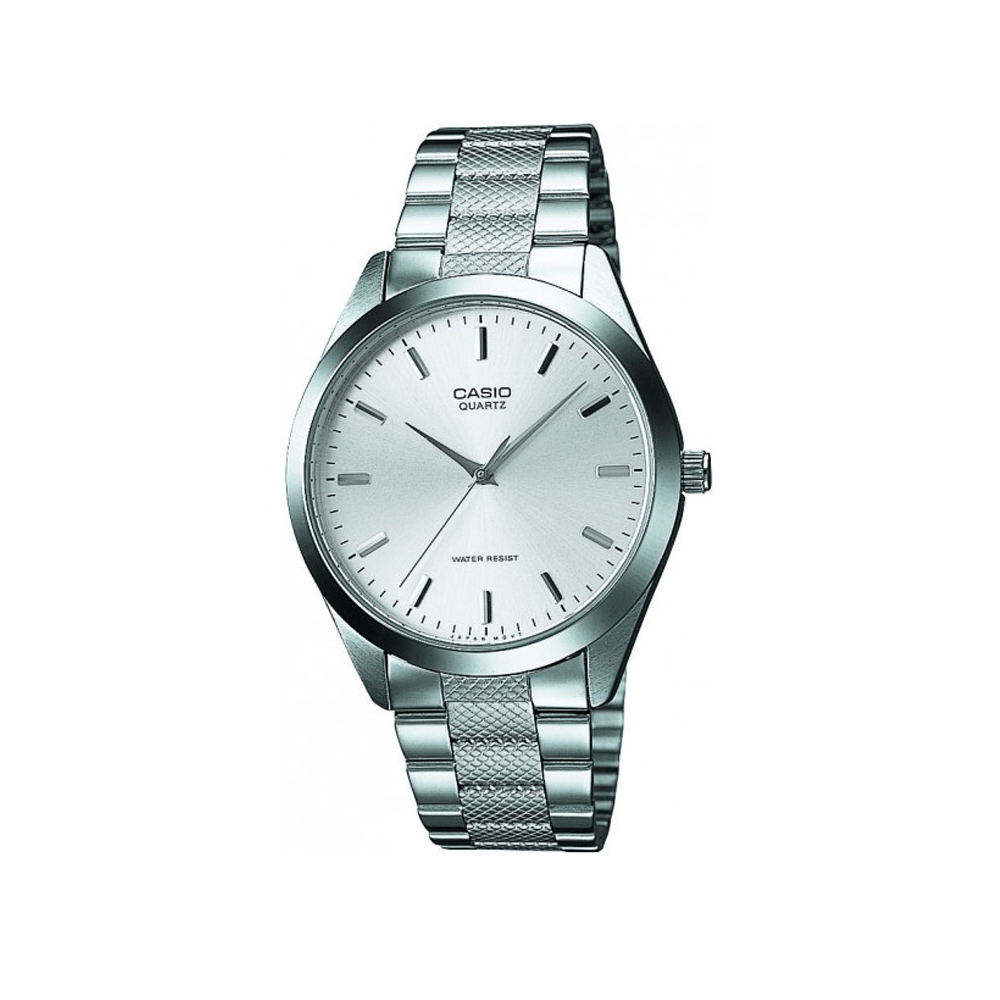 CASIO 經典貴氣時尚指針紳士錶(MTP-1274D-7A)-銀/36mm