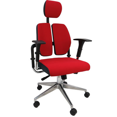 LOGIS人體工學牛頓機能雙背護腰機能電腦椅/辦公椅