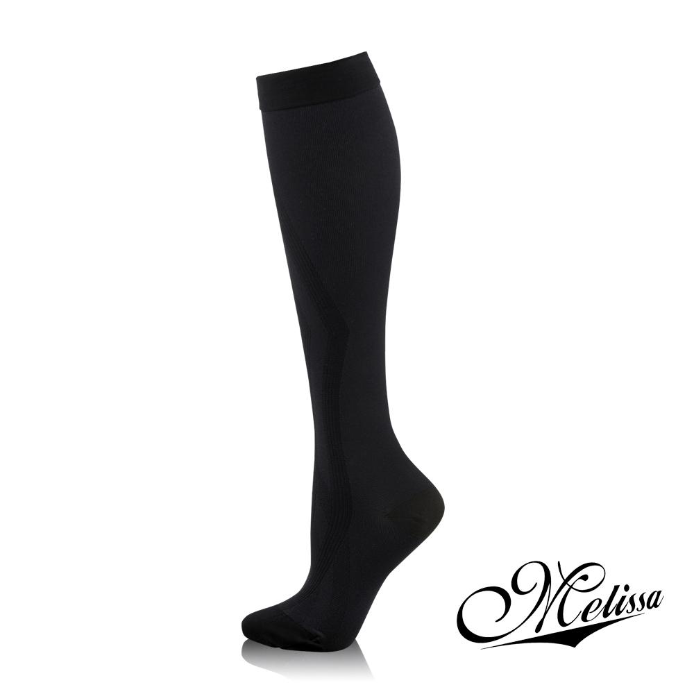 Melissa 魅莉莎 醫療級時尚彈性美腿襪─小腿襪(典雅黑)