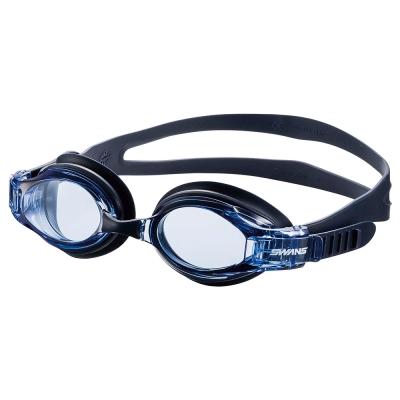 【SWANS 日本】專業光學簡易舒適型泳鏡 ( 防霧/抗UV/矽膠 SW-34 藍)