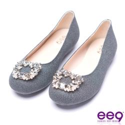 ee9 芯滿益足都會優雅鑲嵌亮鑽超輕豆豆娃娃鞋 黑色