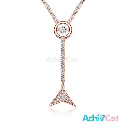 AchiCat 925純銀 跳舞的項鍊 夢幻美人魚 跳舞石 (玫金)