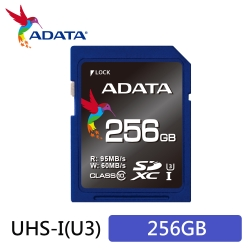 威剛 Premier Pro SDXC UHS-I U3 256G記憶