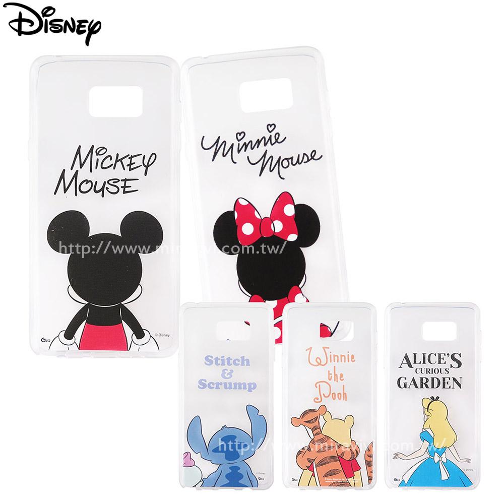 Disney迪士尼三星Galaxy Note 5可愛透明保護軟套-背影系列