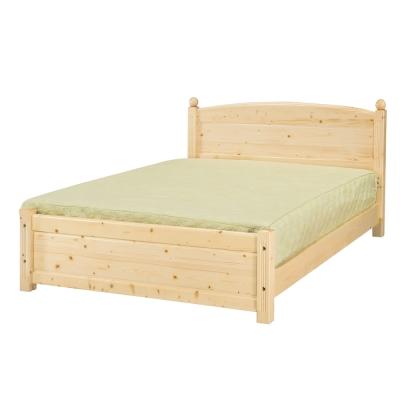 愛比家具 布倫丹松木實木5尺雙人床架(不含床墊)