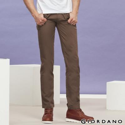 GIORDANO男裝低腰修身窄管彈性休閒褲-83核