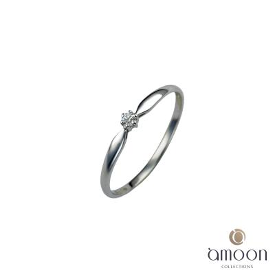 amoon 浪漫艾菲爾系列 星情 9K金鑽石戒指