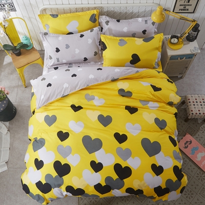 Alieen 個性印花 四件式涼被床包組 加大 心動十分