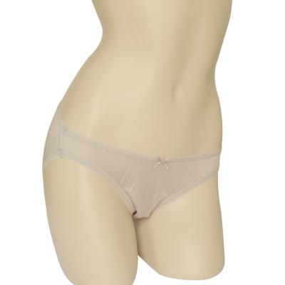 三角褲 100%蠶絲蝴蝶結低腰內褲2件組M-XL(銀灰) Seraphic