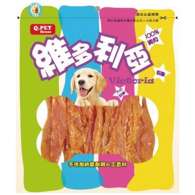 Q-PET維多利亞-香焙雞胸切條160g【QP-HH-06N】