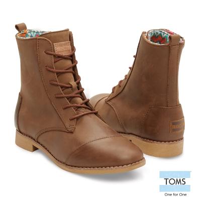 TOMS-皮革高筒靴