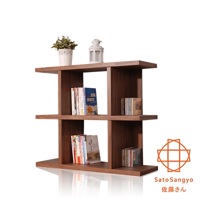 【Sato】FIZZ森隔間三層收納展示櫃‧幅90cm