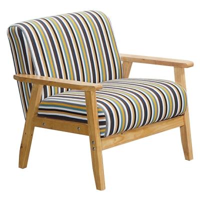 沙發 單人座 安德里實木造型沙發 品家居