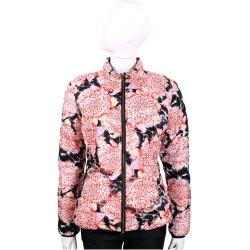 Just Cavalli 豹紋花朵圖騰雙面兩穿長袖鋪棉外套