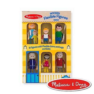 美國瑪莉莎 Melissa & Doug 角色扮演 娃娃屋 - 木製活動人偶 , 七人家庭